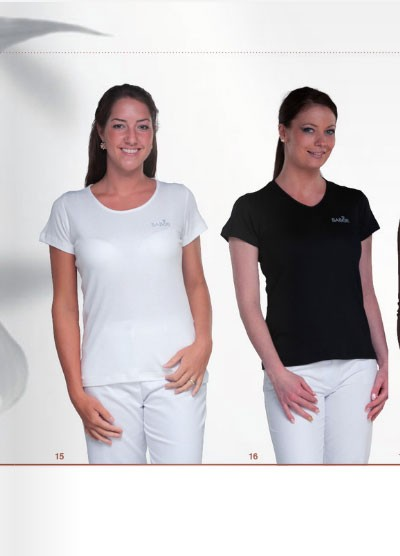 BARBARA fitted round-neck T-shirt -SALE-
