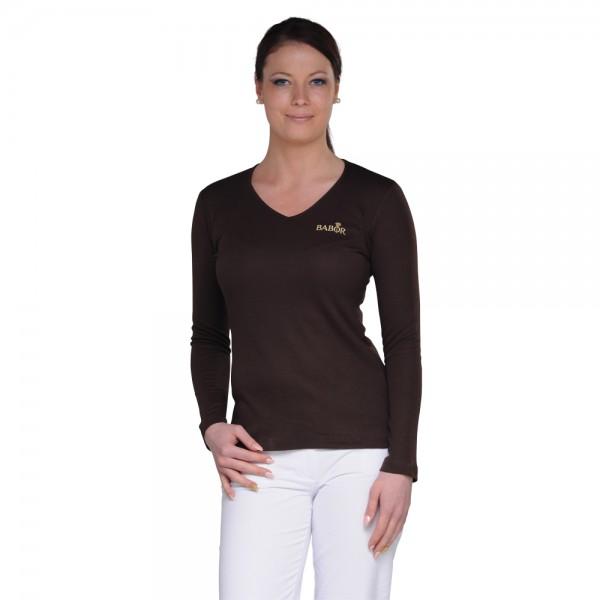 LINDA fitted v-neck T-shirt -SALE-
