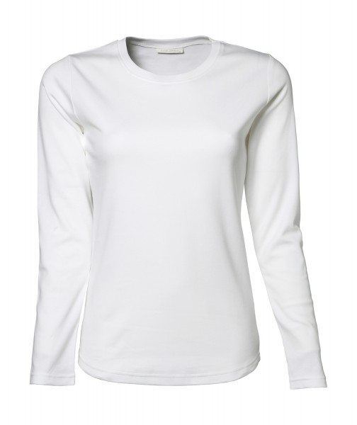 Damen Interlock T-Shirt Langarm